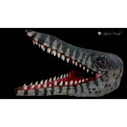 Cabeza de mosasaurus