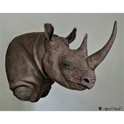 Réplica de rinoceronte negro  (Diceros bicornis)